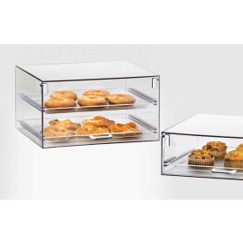 "Cal-Mil 921 Stackable Classic Display Case With Two Trays 18-1/2""W x 14""D x 10""H"