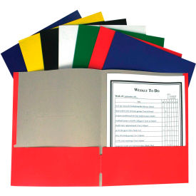 C-Line Products Recycled Two-Pocket Paper Portfolios, Assorted (Color May Vary) Package Count 100 by