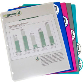 C-Line Products 5-Tab Poly Binder Index Dividers, Assorted, 5/ST - Pkg Qty 12