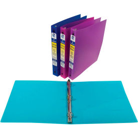 C-Line Products 3-Ring Poly Binder, 1 Inch Capacity - Pkg Qty 6
