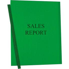C-Line Products Vinyl Report Covers w/ Binding Bars, Green, Matching Binding Bars, 11 x 8 1/2, 50/BX
