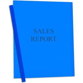 C-Line Products Vinyl Report Covers w/ Binding Bars, Blue, Matching Binding Bars, 11 x 8 1/2, 50/BX by