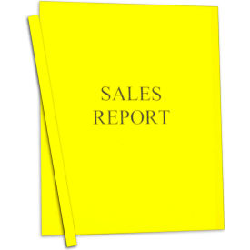 C-Line Products Vinyl Report Covers w/Binding Bars, Yellow, Matching Binding Bars, 11 x 8 1/2, 50/BX
