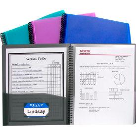 C-Line Products 8-Pocket Spiral-Bound Poly Portfolio - Pkg Qty 6