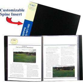 C-Line Products 24-Pocket Bound Sheet Protector Presentation Book, Black - Pkg Qty 4