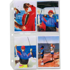C-Line Products 35mm Ring Binder Photo Pages, 3 1/2 x 5, Clear, Top Load, 11 1/4 x 8 1/8, 50/BX - Pkg Qty 2