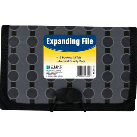 C-Line Products 13-Pocket Coupon Size Expanding File, Fashion Circle Series - Pkg Qty 6