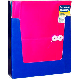 C-Line Products Reusable Poly Envelope with String Closure, Side Load, Assorted (Colors May Vary) - Pkg Qty 24