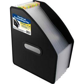 C-Line Products 13-Pocket Vertical Expanding File, Letter Size, Black - Pkg Qty 2
