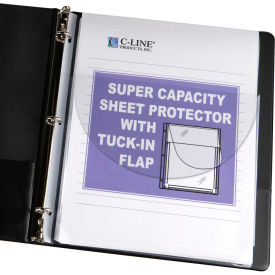 C-Line Products Super Capacity Sheet Protector with Tuck-In Flap, 11 x 8 1/2, 10/PK - Pkg Qty 2