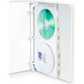 C-Line Products Deluxe CD Ring Binder Storage, Standard with Index Tabs, Stores 4 CDs, 8/PK - Pkg Qty 3