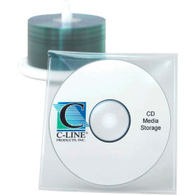 C-Line Products Individual CD/DVD Holders, Clear, 10/PK - Pkg Qty 5