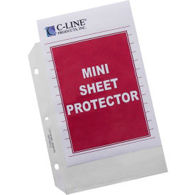 C-Line Products Heavyweight Polypropylene Sheet Protector, Mini, Clear, 8 1/2 x 5 1/2, 50/BX - Pkg Qty 2