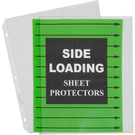 C-Line Products Side Loading Polypropylene Sheet Protector, Clear, 11 x 8 1/2, 50/BX - Pkg Qty 2