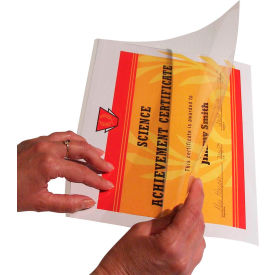 C-Line Products Super Heavyweight Cleer Adheer Quick Cover Laminating Pockets, 25/BX