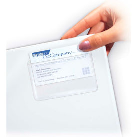 C-Line Products Self-Adhesive Business Card Holder, Top Load, 2 x 3 1/2, 10/PK - Pkg Qty 5