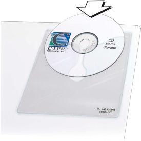C-Line Products Self-Adhesive CD Holder, 5 1/3 x 5 2/3, 10/PK - Pkg Qty 5