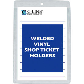 C-Line Products Vinyl Shop Ticket Holder, Both Sides Clear, 6 x 9, 50/BX