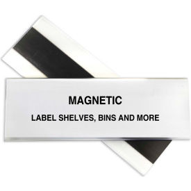 C-Line Products HOL-DEX Magnetic Shelf/Bin Label Holders, 2  Inch Magnetic Label Holder, 10/BX - Pkg Qty 2