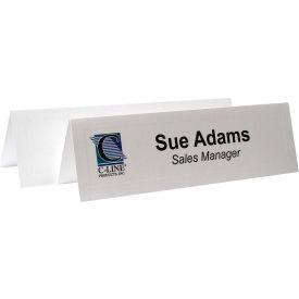 C-Line Products Inkjet/Laser Cardstock Name Tents, Scored, Embossed, White, Medium, 100/BX