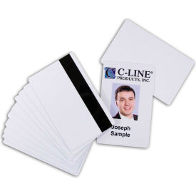 C-Line Products Graphics Quality Video Grade PVC Card, Magnetic Stripe, Hi-Co, White, 100/PK