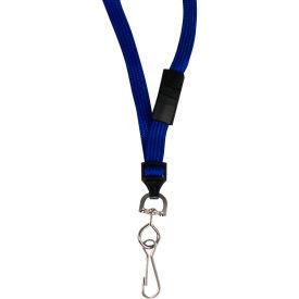 C-Line Products Breakaway Lanyards, Swivel Hook, Blue, 12/BX