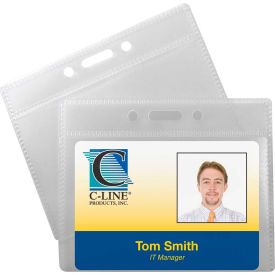 C-Line Products ID Badge Holders, Horizontal, 3 1/2 x 2 1/4, 12/PK Package Count 5 by
