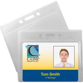 C-Line Products ID Badge Holders,  Horizontal, 3 1/2 x 2 1/4, 12/PK - Pkg Qty 5