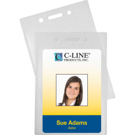 C-Line Products Proximity Badge Holders, Vertical, 50/PK - Pkg Qty 2