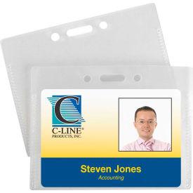 C-Line Products Proximity Badge Holders, Horizontal, 50/PK - Pkg Qty 2
