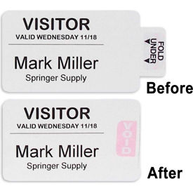 C-Line Products Visitor Badges with Registry Log, 150/Pack