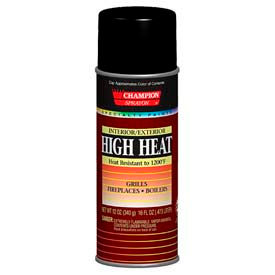 Champion Sprayon® High Heat Black Spray Paint