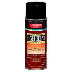 Champion Sprayon® High Heat Black Spray Paint 6 Cans/Case - 419-0981