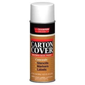 Champion Sprayon® Carton Cover Brown Box Paint 12 Cans/Case 12 Cans/Case - 438-0982