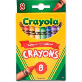 Crayola® Classic Crayons, Nontoxic, Assorted, 8/Box