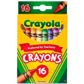 Crayola® Classic Crayons, Nontoxic, Assorted, 16/Box