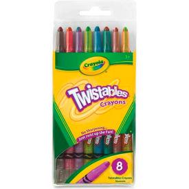 Crayola® Twistable Crayons, Nontoxic, Assorted, 8/Pack