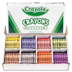 Crayola® Large Crayons Classpack, 8 Colors, 400/Box