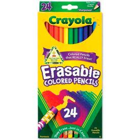Crayola® Erasable Colored Pencils, Assorted, 24/Pack