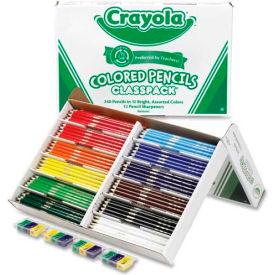 Crayola® Colored Pencils Classpack, 12 Assorted Colors, 240/Box