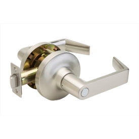 """Copper Creek Avery Grade 1 Lever Privacy, 5-5/8""""L x 3""""H x 2-5/8""""D, Satin Stainless"""