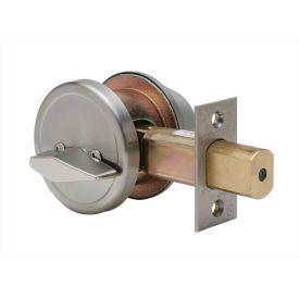 """Copper Creek Grade 2 Single Cylinder Deadbolt, 2-1/2""""L x 1-1/8""""H x 1-1/16""""D, Satin Stainless"""