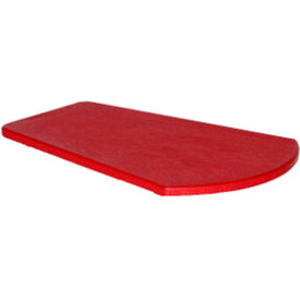 """Generations Arm Table, Red, 24-1/2""""L x 16-1/4""""W x 1-7/8""""H"""