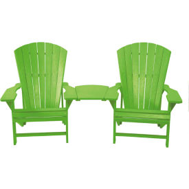 """Generations Arm Table, Kiwi Green, 24-1/2""""L x 16-1/4""""W x 1-7/8""""H"""