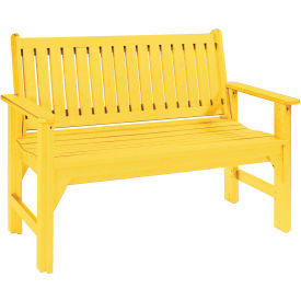 "Generations Garden Bench, Yellow, 48""L x 24""W x 36""H"