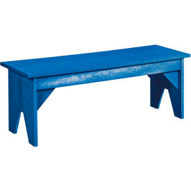 "Generations Lifestyle Outdoor Bench, Blue, 48""L x 15""W x 18""H"
