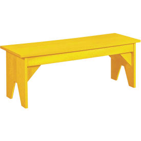 "Generations Lifestyle Outdoor Bench, Yellow, 48""L x 15""W x 18""H"