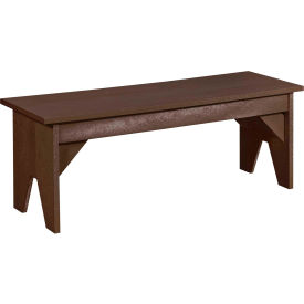 """Generations Lifestyle Outdoor Bench, Chocolate, 48""""L x 15""""W x 18""""H"""