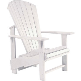 "Generations Upright Adirondack Chair, White, 27""L x 31""W x 44""H"