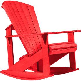 "Generations Adirondack Rocking Chair, Red, 34""L x 24""W x 40""H"